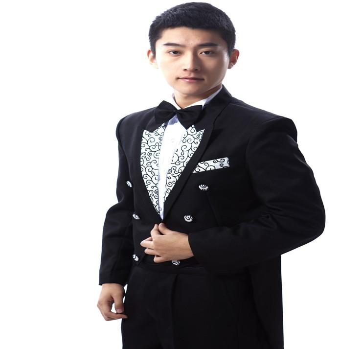 男士燕尾服韩版出租_伴郎礼服男主持人服装