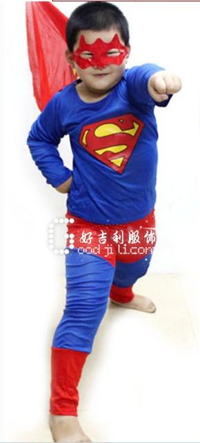 儿童万圣节服装_超人服装_化妆舞会服装
