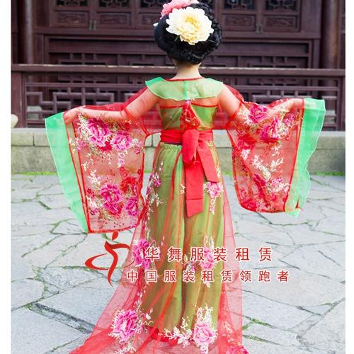 儿童贵妃服装古装_唐朝小仙女演出服图片