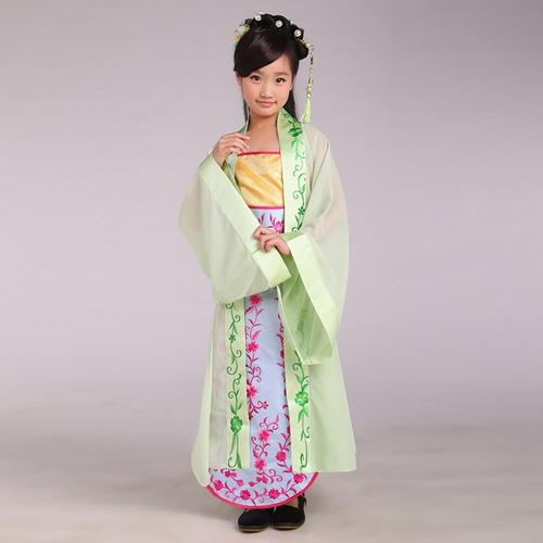 儿童摄影古装_儿童古典舞表演服_唯美小公主古装