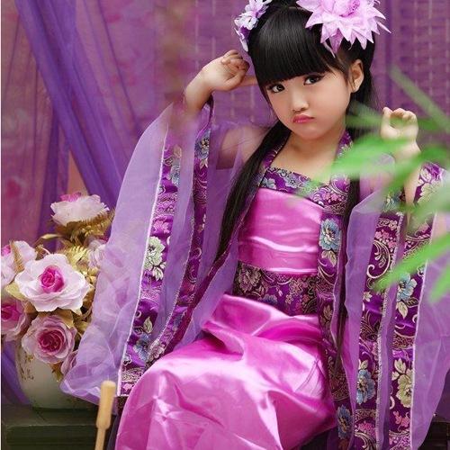 儿童古装仙女装_古装小公主服装_儿童七仙女演出服