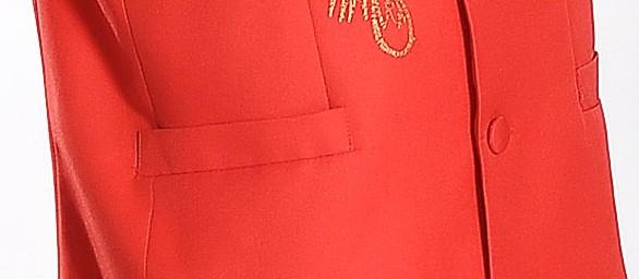 红色绣龙中山装礼服